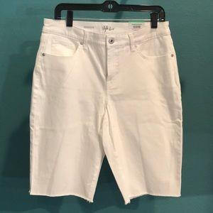 Style & Co White Denim Bermuda Short